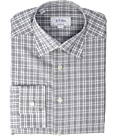 Eton - Contemporary Fit Plaid Cotton/Linen Shirt