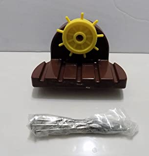 Little Tikes Replacement Steering Wheel Assembly (helm) & Screws Parts for Anchors Away Pirate Ship Water Table (Models 628566 & 615924)