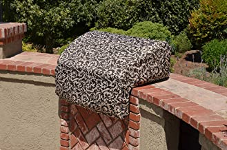 Scroll Black & Beige Decorative All Weather BBQ Gas Grill Covers to Beautify Your Backyard Completely Made in The USA