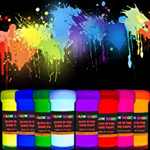 individuall Glow in The Dark Acrylic Paint Set – Self-Luminous Phosphorescent..