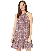 Shirred Halter Dress