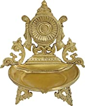 Vaishnava Chakra Puja Lamp (Hoysala Art) - Bronze Statue