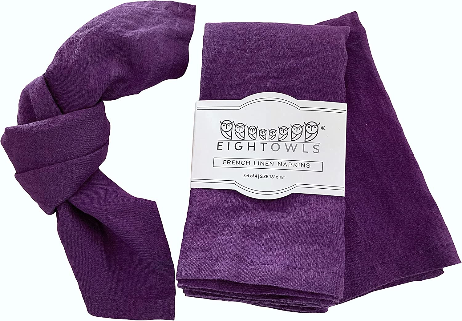 Linen Napkins –100% French Flax – Pure Lin Memphis Mall Classic Stonewashed