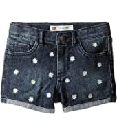 Levi's® Kids - Embroidery Shorty Shorts (Little Kids)