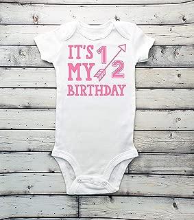 It's my 1/2 birthday bodysuit - half birthday - boys bodysuit - 1/2 - Half - 6 months baby - 6 months shirt - it's my half birthday - boy bodysuit - its my 1/2 birthday - babyshower gift