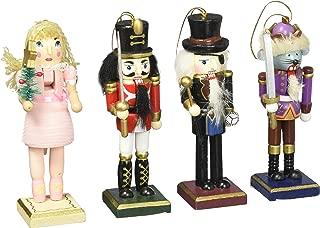 Burton & Burton Nutcracker Ornaments Wood Handpainted Assorted Set of 4