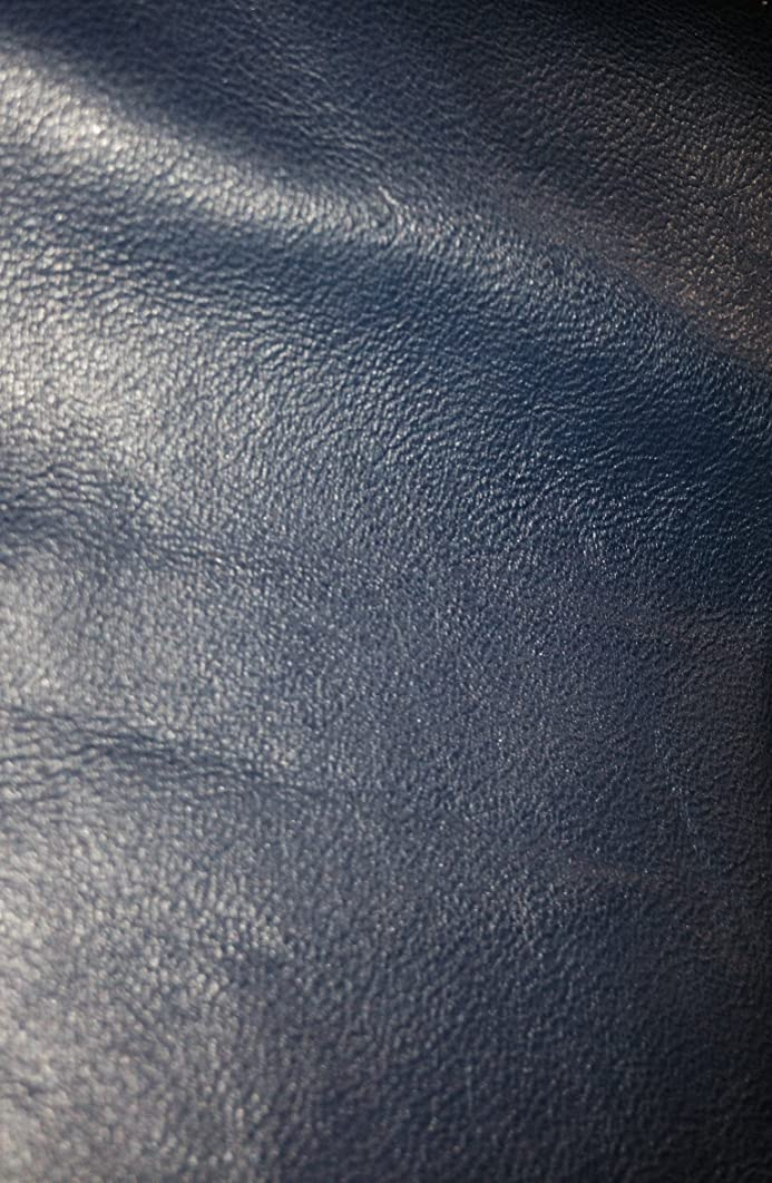 REED LEATHER HIDES - COW SKINS VARIOUS COLORS & SIZES (12 X 24 Inches 2 Square Foot, NAVY)
