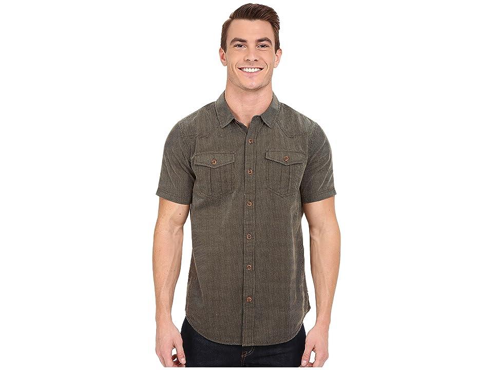 Prana Borla (Cargo Green) Men's Short Sleeve Button Up