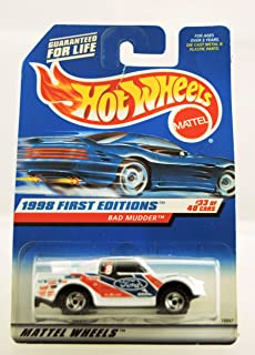 Hot Wheels - 1998 First Editions - Bad Mudder - Ford Truck - Die Cast - Racing Paint Job - #33 of 40 Cars - Collector #662 - Limited Edition - Collectible 1:64 Scale