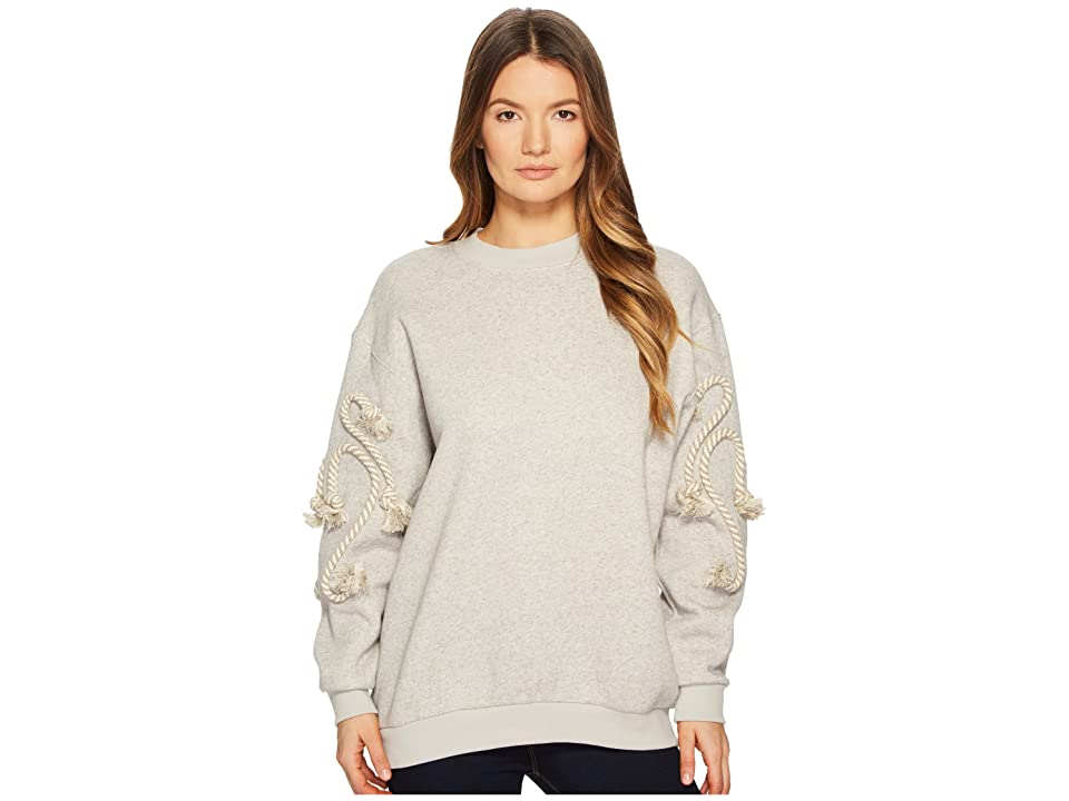 See by Chloe Sweatshirt with Rope Detail (Drizzle Grey) Women