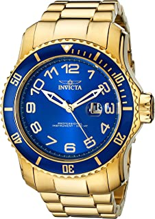 Men's 15347 Pro Diver Blue and Yellow Gold-Tone Stainless Steel Watch