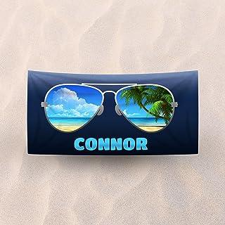 Flip Flops Zebra Bikini Sunglasses Rectangle Beach Towel High Quality Goods Home & Garden
