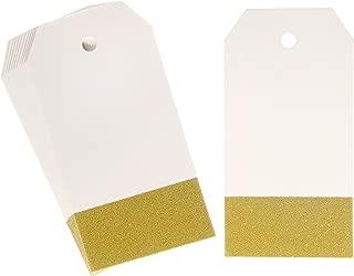 gold glitter tags