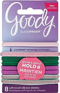 Goody SlideProof Hair Tie Elastics, Sparkly Neon, 8Count