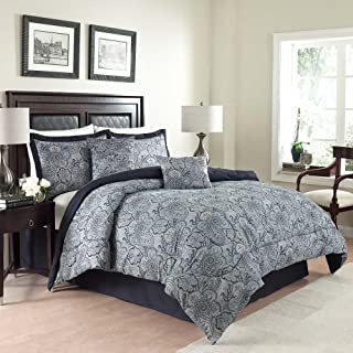 Traditions By Waverly 14413BEDDKNGPOR Paddock Shawl Comforter Set, King, Porcelain, 6 Piece