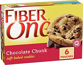 Fiber One Soft Baked Cookies, Chocolate Chunk, 6 ct