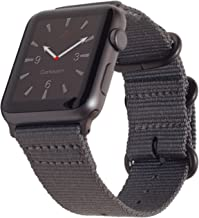Carterjett Compatible with Apple Watch Band 42mm 44mm Women Men Nylon Rugged Replacement iWatch Band Military-Style Buckle...