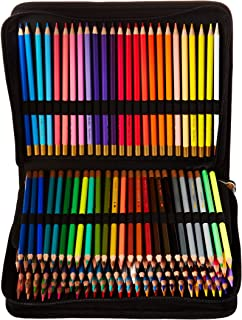 Thornton's Art Supply Premier Premium 150-Piece Artist Pencil Colored Pencil Drawing Sketching Set with Zippered Black Canvas Pencil Case