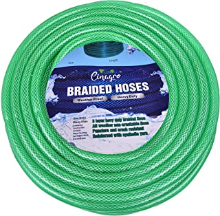 CINAGRO™ - Heavy Duty 3 Layered Braided Water Hose Pipe (Size : 1/2 inch - Lenght : 10 Meters) Garden, Car Wash, Floor Clean, Pet Bath, Easy to Connect