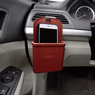 FH Group FH3022BURGUNDY Burgundy Silicone Car Vent Mounted Phone Holder (Smartphone works with IPhone Plus Galaxy Note Burgundy Color)
