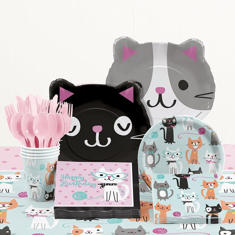Purr-fect お得クーポン発行中 Cat Birthday Supplies Party Kit 全国一律送料無料
