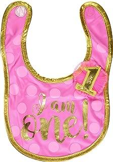 Amscan 1st Birthday Girl Fabric Bib