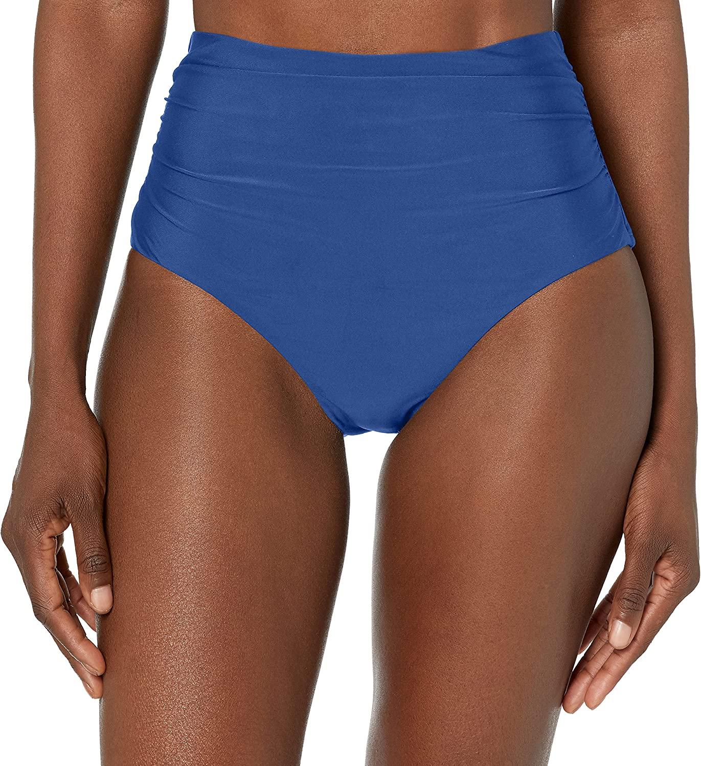 Chaps Women's Core Solids Shirred Direct stock Selling rankings discount Pant Waisted Botto High Bikini