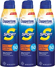 Coppertone SPORT Continuous Sunscreen Spray Broad Spectrum SPF 50 Multipack (5.5 Ounce..