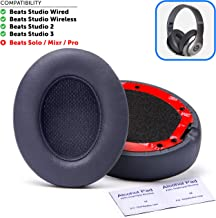 Premium Beats Studio Replacement Ear Pads by Wicked Cushions - Compatible with Beats Studio 3/2 / Wired/Wireless - Extreme Comfort with Ear Adapting Memory Foam & Super Strong Adhesive   Titanium