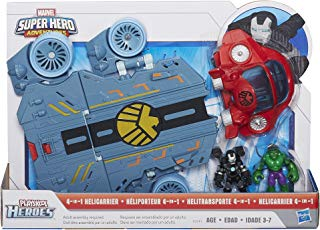 Playskool Heroes Marvel Super Hero Adventures Helicarrier Vehicle with War Machine Figure (Discontinued by manufacturer)