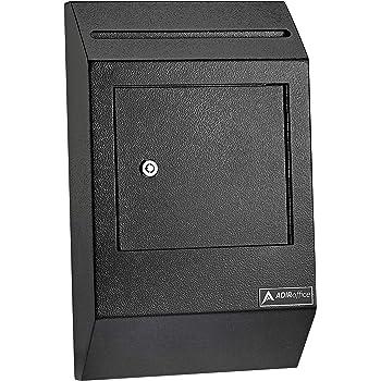 Locking Black Metal Metal MSBCT8511B Slim Profile Displays2go Donation Box Hardware Included Holder for 8.5 x 11 Sign