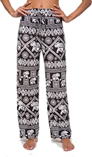 ULIAN Womens Comfy Striped Waist Drawstring Casual Yoga Wide Leg Lounge Pants