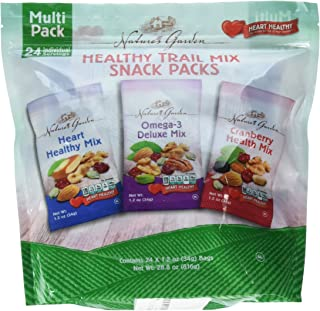 Nature's Garden Healthy Trail Mix Snack Packs, Multi Pack 1.2 oz bags, Pack of 24 (Pack of 2)