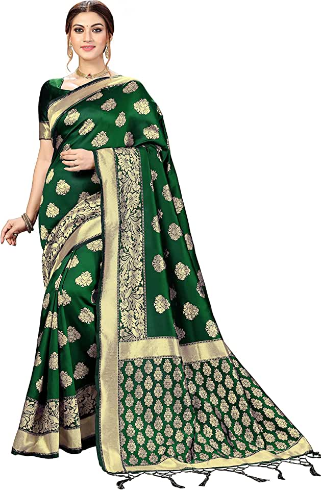 Indian Nivah Fashion Banarasi Silk Kanjivaram Saree for Women Saree
