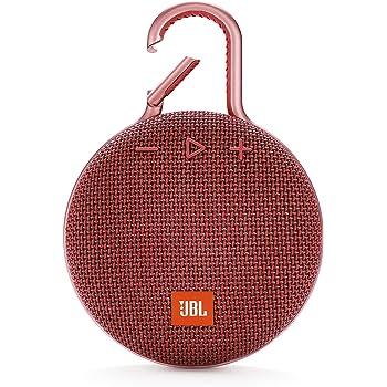 JBL CLIP3 Bluetoothスピーカー IPX7防水/パッシブラジエーター搭載/ポータブル/カラビナ付 レッド JBLCLIP3RED 【国内正規品/メーカー1年保証付き】