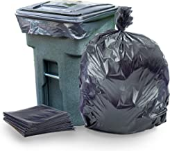 """Plasticplace 95-96 Gallon Garbage Can Liners │1.5 Mil │ Black Heavy Duty Trash Bags │ 61"""" X 68"""" (25Count)"""