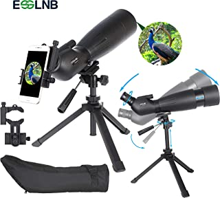 ESSLNB 80mm Spotting Scope with Tripod BAK4 Waterproof Spotting Scopes for Target Shooting Hunting Bird Watching