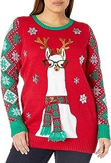 Juniors Llama Christmas Tunic Christmas Sweater