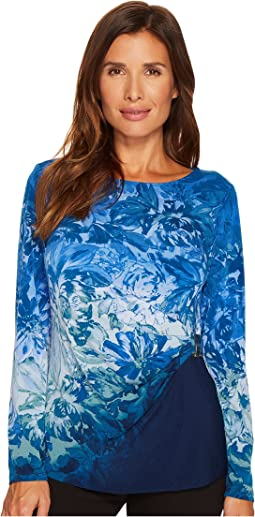 Calvin Klein - 3/4 Printed Top with Hardware