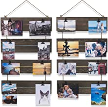 brightmaison Picture Photo Display Clip Board 26 Inch Wood Wall Decor with 16 Clips Collage Artworks Prints Multi Pictures Hanging Vertical Organizer (Set of 2)