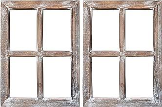 Barnyard Designs Rustic Window Barnwood Frame Primitive Country Farmhouse Wall Decor 18