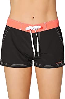 Women Quick Dry Swimwear Trunks Sports Board Shorts with Soft Briefs Inner Lining