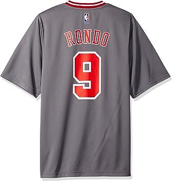 adidas NBA Chicago Bulls Rajon Rondo # 9 Hombres Camiseta de ...