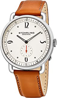 Stührling Original Men's 'Symphony' Quartz Stainless Steel and Leather Dress Watch (Model: 857)