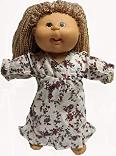 Doll Clothes Superstore Flannel Nightgown Fits Cabbage Patch Kid Dolls