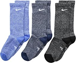 Nike Kids - Performance Cushioned Dri-Fit Crew Training Socks 3-Pair Pack (Little Kid/Big Kid)