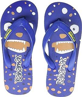 Bahamas Unisex Kid's Blue Yellow Slippers-12 UK (30.5 EU) (BHK008C_BLYL0012)