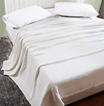 KRP HOME 100% COTTON, Soft Premium Thermal Blanket/Throw Lightweight and Breathable Chevron Weave - Perfect for Layering A...