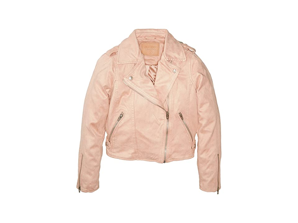 Blank NYC Kids Faux Sueded Pink Moto Jacket (Big Kids) (Candy Crush) Girl