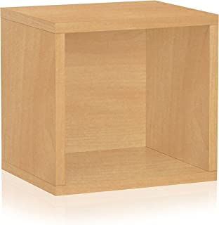 Way Basics Eco Stackable Connect Open Storage Cube and Cubby Organizer, Natural Wood Grain (Tool-Free Assembly and Uniquely Crafted from Sustainable Non Toxic zBoard Paperboard)